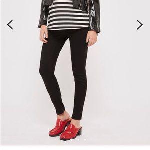 Topshop moto Leigh black maternity skinny jeans 8